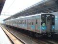 [鉄道][121系][貫通幌]JR四国121系電車(Tc120-13+Mc121-13)/坂出駅2006.04