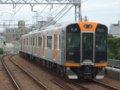 [鉄道][貫通幌]阪神1000系1501F(Tc1601側)+1502F/千鳥橋駅2007.10