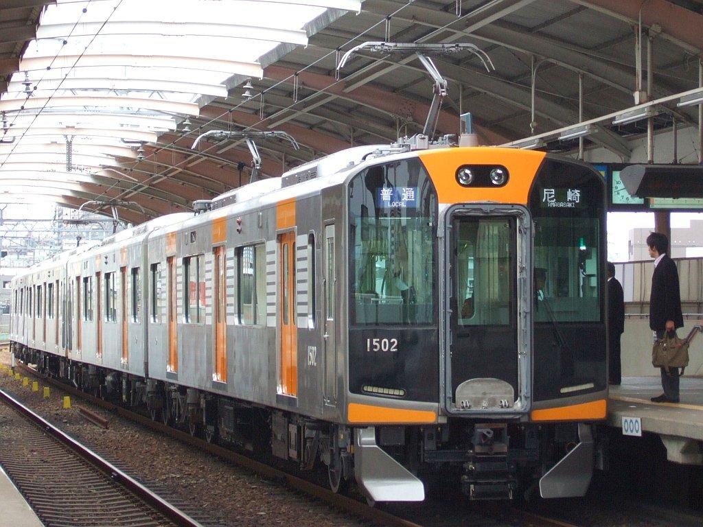 阪神1000系1502F(Mc1502側)+1501F/千鳥橋駅到着1024pix2007.10