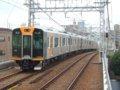 [鉄道][貫通幌]阪神1000系1501F(Tc1601側)+1502F/千鳥橋駅発車2007.10