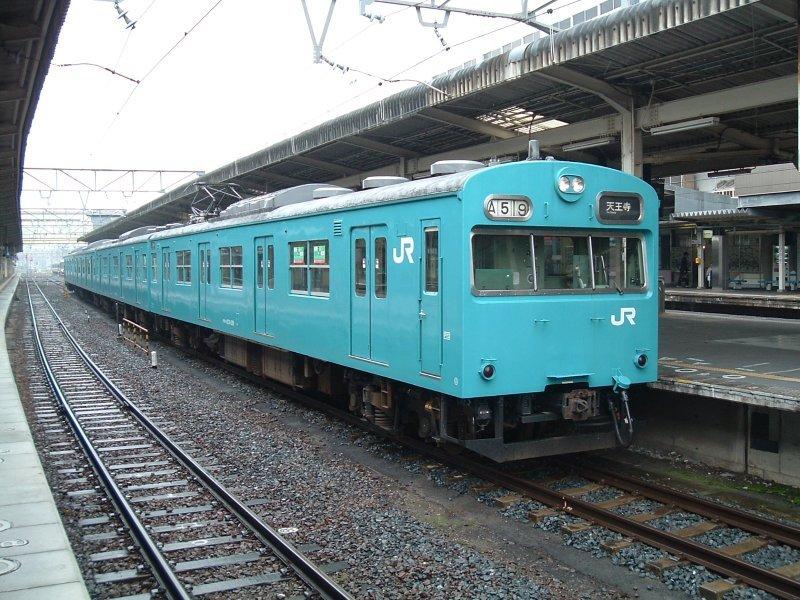 ★大ヒネ(日根野電車区)103系J419編成(クモハ103-129側)和歌山駅2004.05