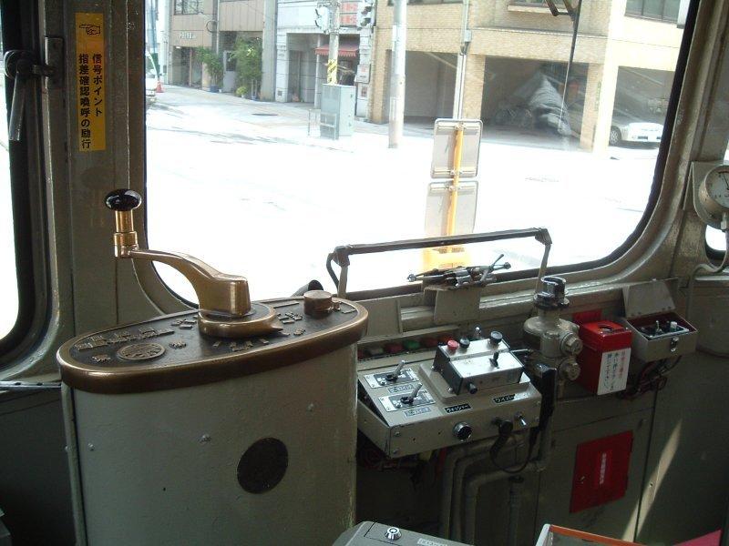 ☆広島電鉄900形914(元大阪市電)コントローラー/白島停留所040806