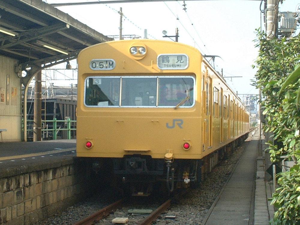 ★鶴見線・扇町駅-クモハ103-131(中原T3編成)1024pix版:2003年5月