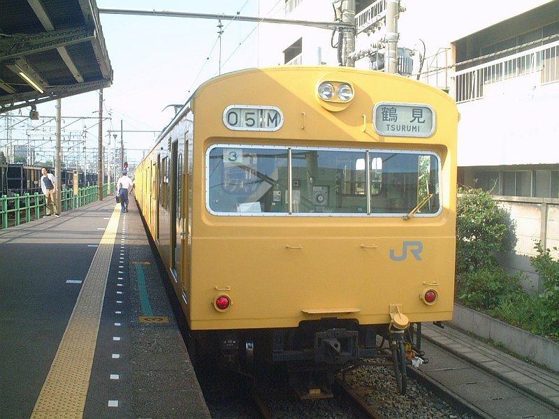 ★鶴見線・扇町駅-クモハ103-131(中原T3編成):2003年5月
