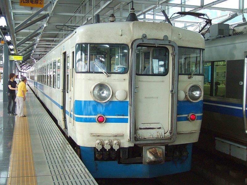 ☆058:北陸本線355M・475系A18編成(Tc455-47側)/福井駅090724