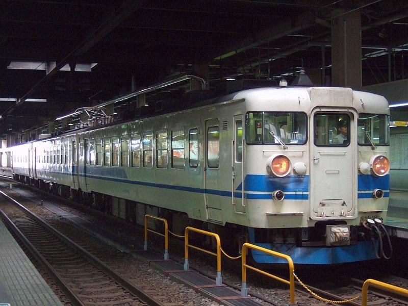 ☆073:北陸本線355M・475系A18編成(Mc475-45側)/金沢駅090724