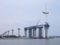 ☆404:富山県営渡船「海竜」から建設中の新湊大橋(越の潟側)090725
