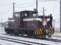 [鉄道]★294:津軽鉄道ストーブ列車機回し中(DD352)/津軽中里駅081213