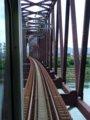 [鉄道][風景]☆573:えちぜん鉄道車窓(中角-新田塚間九頭竜川鉄橋)090725