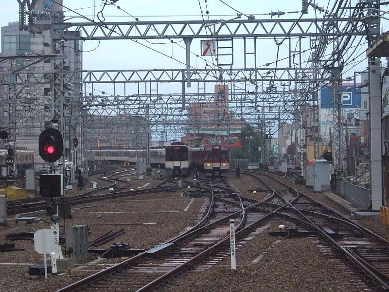 ★001:阪神尼崎駅・近鉄車出発準備/三宮側留置線091003