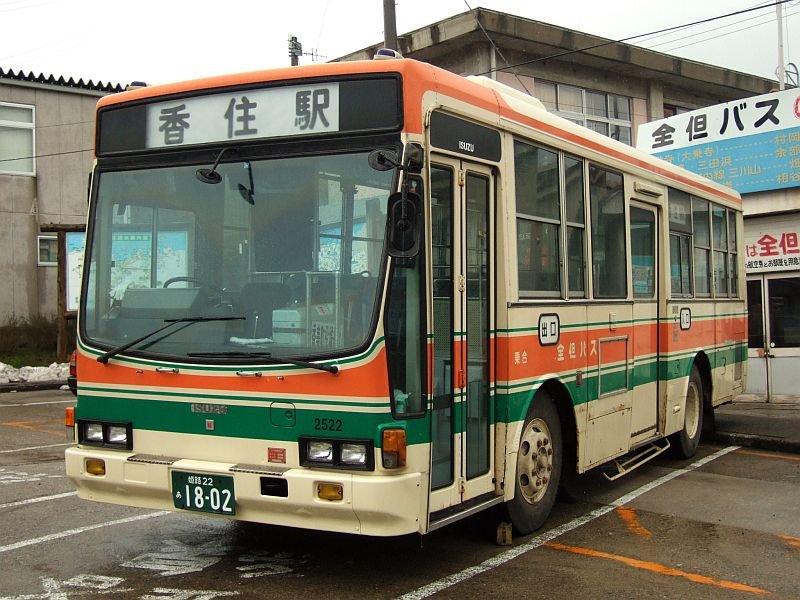 餘部探訪(15)全但バス・いすゞP-LT312J(IKコーチ)/香住駅080113