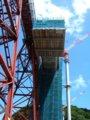 [鉄道][風景]餘部探訪(158)余部鉄橋・建設中の新橋脚090814