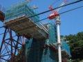 [鉄道][風景]餘部探訪(163)余部鉄橋・建設中の新橋脚090814