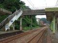 [鉄道][風景][駅]★237:台鐵宜蘭線・暖暖車站-八堵方面(両側ホームと跨線橋)