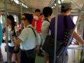 [鉄道][台鐵DR1000][風景]★292:區間車3211次(DR1029)/十分着後のタブレット交換に備える車掌さん
