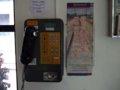 [風景][駅][Misc.]★397:公衆電話と台鐵踏切安全啓発広告/三貂嶺車站待合室