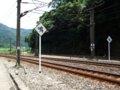 [鉄道][風景]★400:三貂嶺車站南側-宜蘭線と平渓線分岐点付近100619