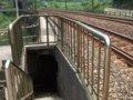 [鉄道][風景]★402:宜蘭線第三基隆河橋-平渓線沿いの歩道への通路入口100619