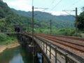 [鉄道][風景]★403:宜蘭線第三基隆河橋-橋の先は三貂嶺隧道100619