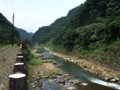 [鉄道][風景]★406:宜蘭線第三基隆河橋付近から基隆河(三貂嶺車站方面)100619