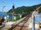 餘部探訪(244)餘部駅-構内踏切、鉄橋と日本海090814