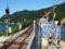 餘部探訪(245)餘部駅-構内踏切、鉄橋と日本海090814
