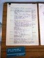 [風景]須崎教授退職記念展示(講義ノート)/神戸大学瀧川記念学術交流会館
