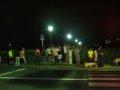 [風景]☆大文字焼き点灯直前/2010.8.16高野川松ヶ崎橋