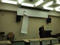 [風景]須崎教授最終講義-ハプニング/2010.2.27滝川記念学術交流会館