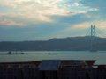 [風景]☆五色塚古墳/神戸市垂水区-円墳部分から明石海峡大橋2010.10.2