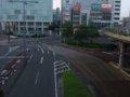 [鉄道][風景][駅]☆084:JR豊橋駅前歩道橋上(手前:豊橋鉄道東田本線駅前駅付近)