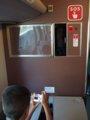 [鉄道][キハ189系]「はまかぜ」新型車両展示会(21)キハ188-3車内/神戸駅1番ホーム