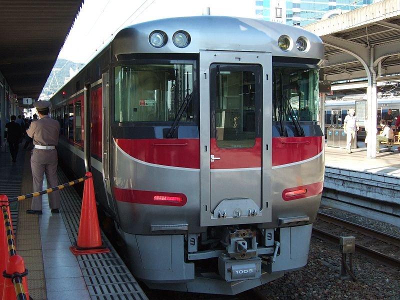 「はまかぜ」新型車両展示会(28)キハ189-1003/神戸駅1番ホーム2010.10.17