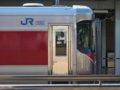 [鉄道][キハ189系][貫通幌]「はまかぜ」新型車両展示会(41)キハ189-3前頭部/神戸駅1番ホーム