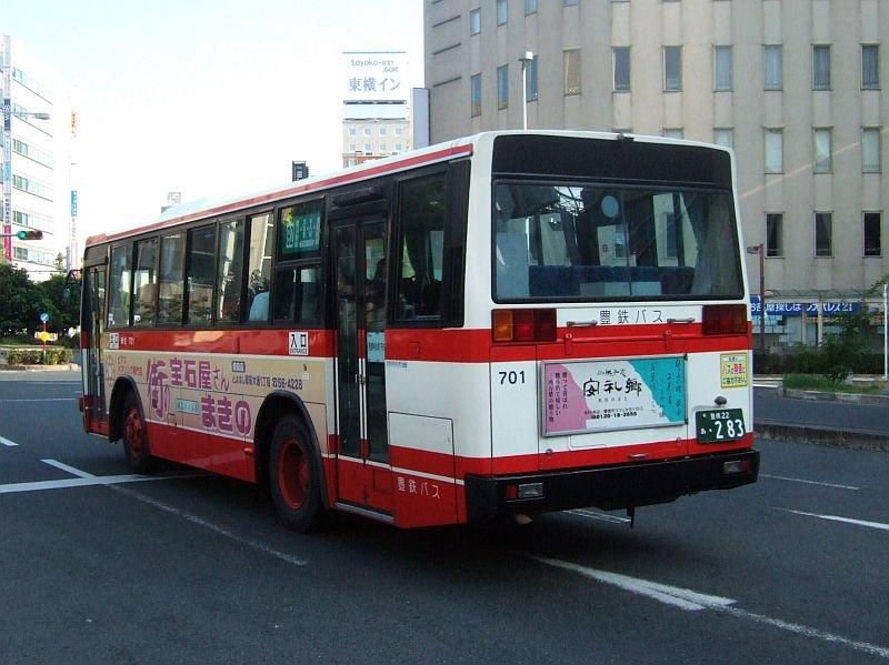☆144:豊鉄バス三菱エアロスターM(U-MM618J)リアビュー/豊橋駅前090906