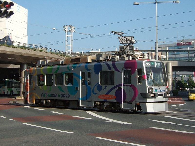 ☆165:豊橋鉄道モ780形787/駅前駅到着090906