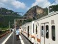 [鉄道][風景][駅][119系]☆182:飯田線3511M119系M6+E17編成/三河槙原10分停車中090906
