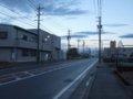 [風景]★066:サーキット道路20101010AM6:00頃