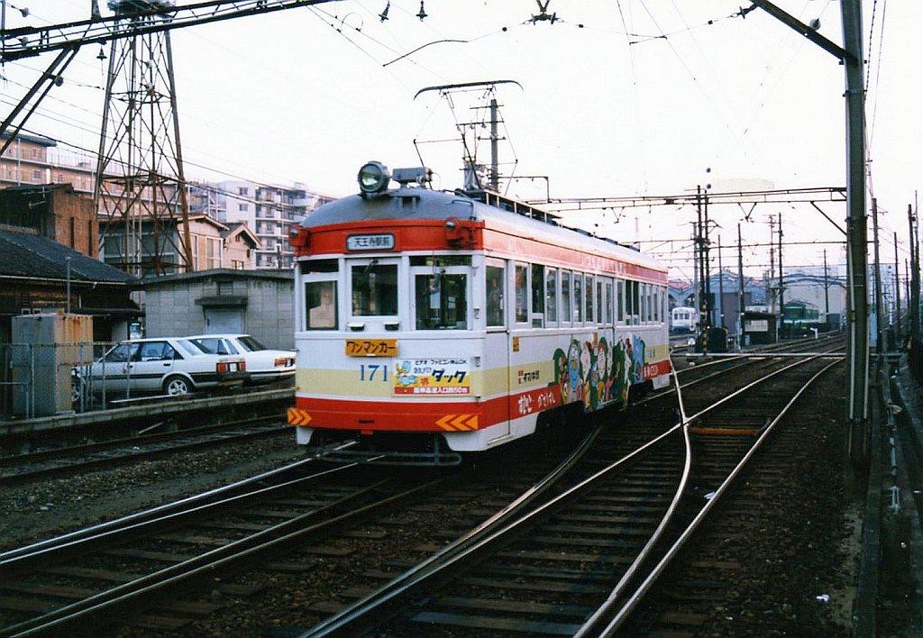 ★阪堺電気軌道 モ171 我孫子道 1989.10