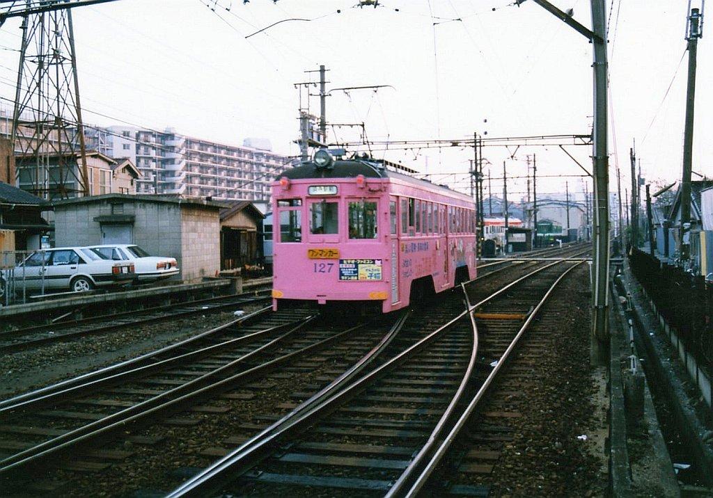 ★阪堺電気軌道 モ127 我孫子道 1989.10
