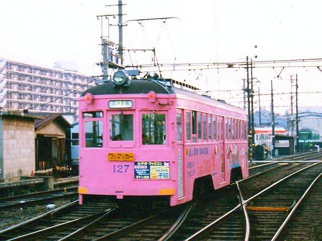 ★阪堺電気軌道 モ127 我孫子道 1989.10<トリミング版>