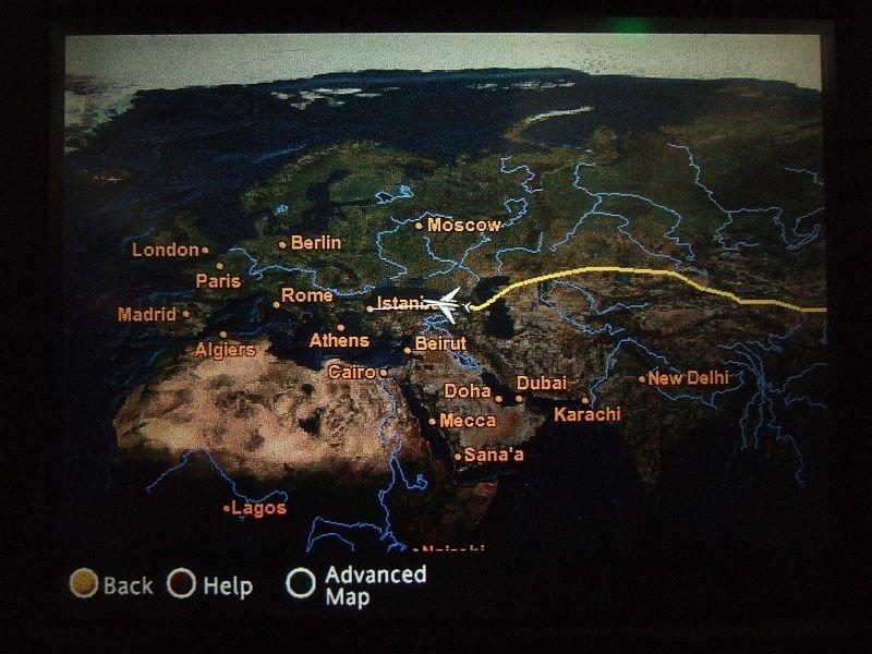 ☆003:トルコ航空 関空→イスタンブール 座席ディスプレイ 12.26