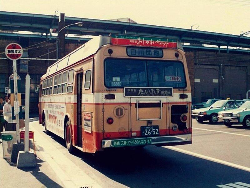 ★神姫バス 2869 三菱ふそうK-MP118M(NSK53MC) 神戸駅南1989.11