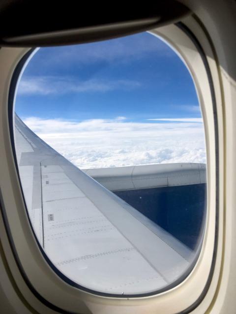 デルタプレミアムセレクトの窓から見た風景