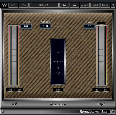 3つのシンプルなコントローラーで簡単に操作出来るコンプRenaissance AXX