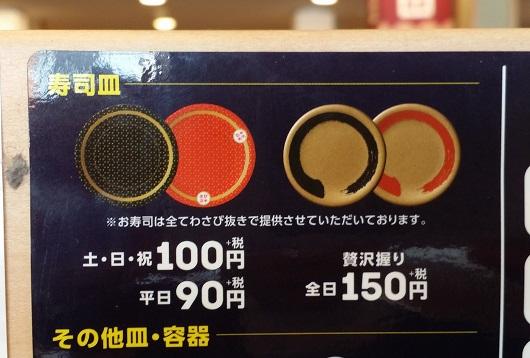 はま寿司価格表