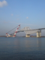ゲートブリッジ架設 東京港湾事務所さん挨拶おわた