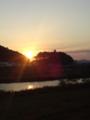 〆は渡良瀬橋から見る夕日♪