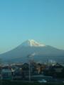 今朝は新幹線から富士山が綺麗