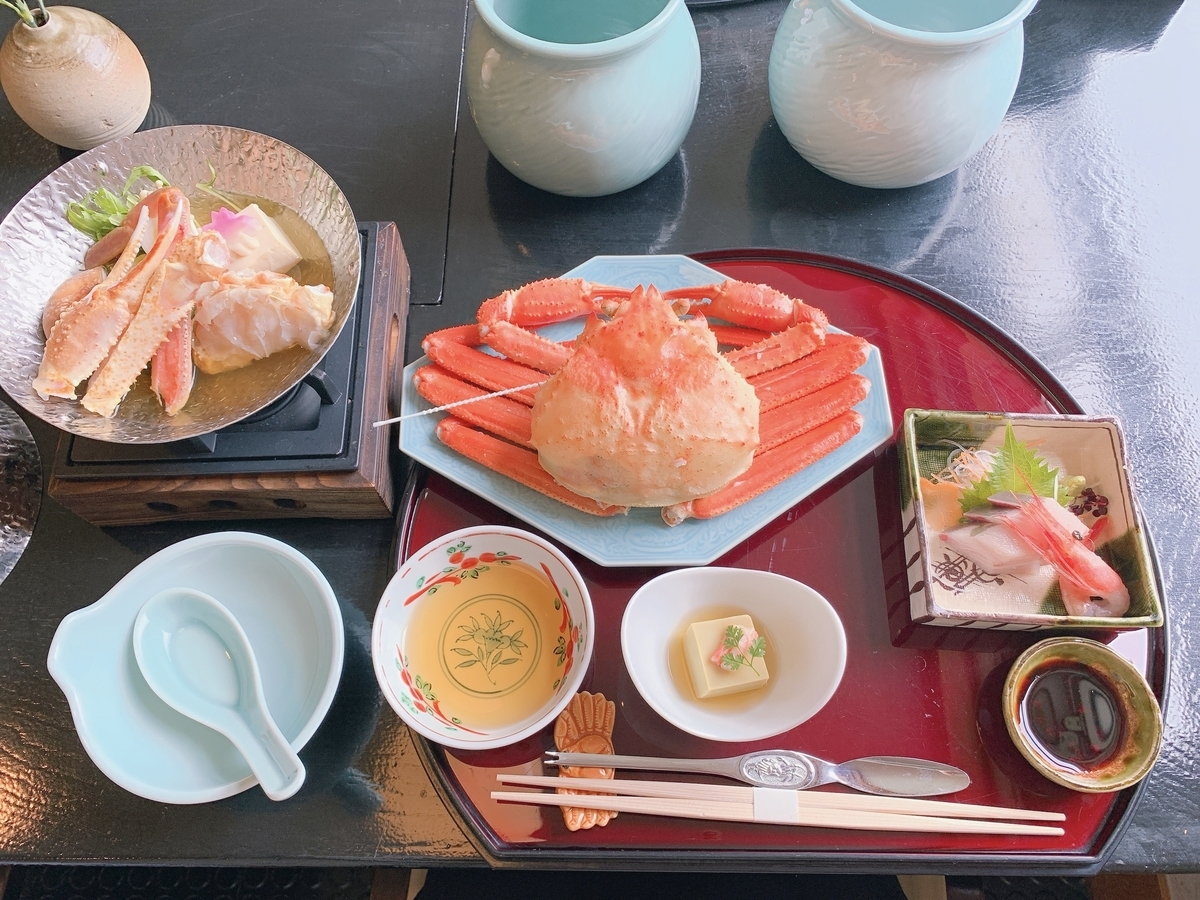 蟹のコース料理(一部)